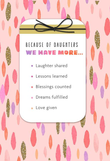 More To Life Because Of You Birthday Card For Daughter Greeting