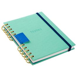 Mint Green Notes Wire Journal, , large