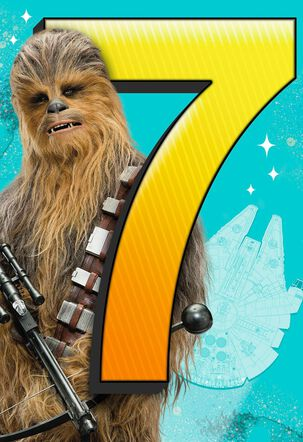 Star Wars™ Epic Wish 7th Birthday Card With Sound