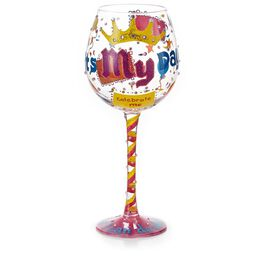 Lolita® It's My Day Handpainted Wine Glass, 22 oz., , large