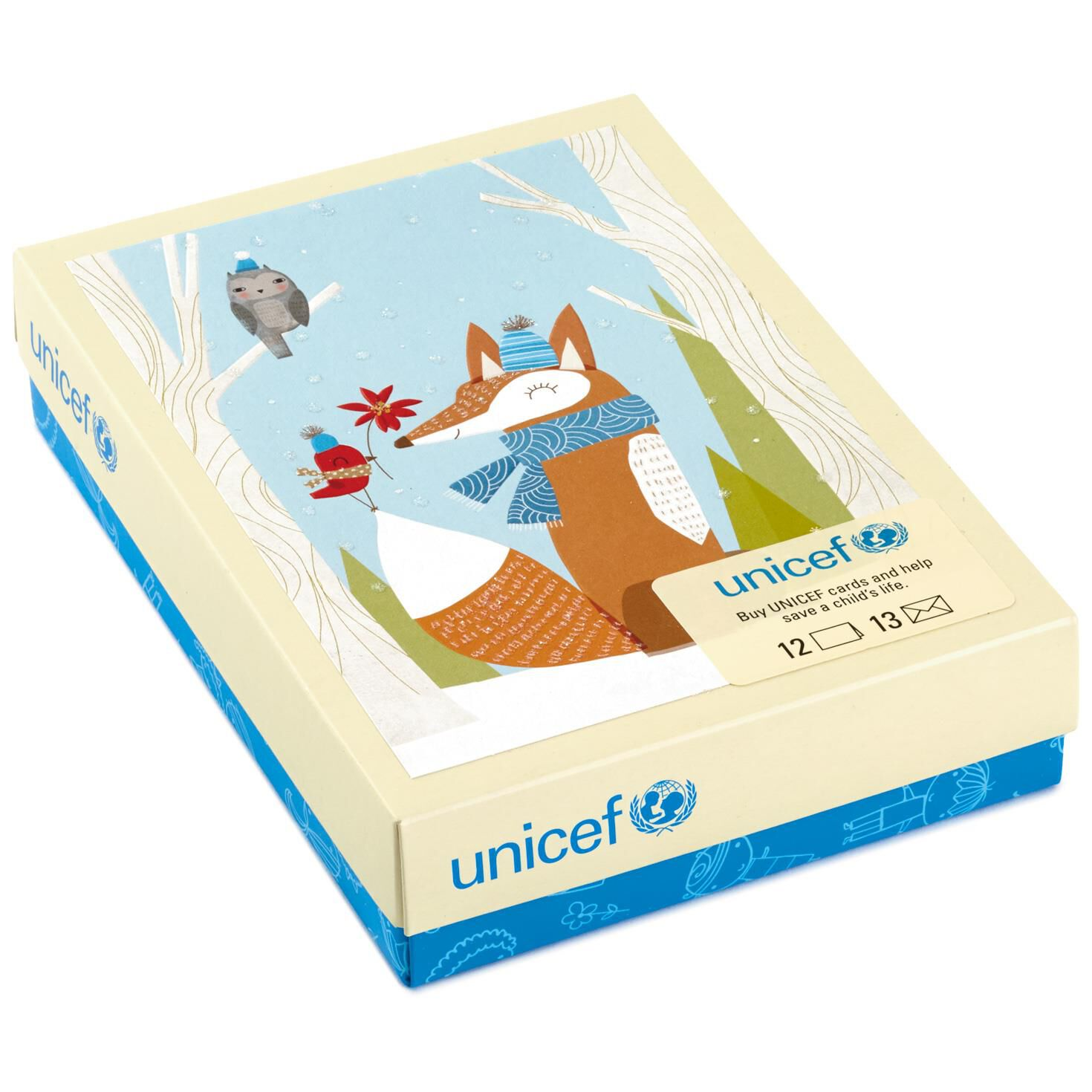 UNICEF Fox and Friends Christmas Cards, Box of 12 - Boxed Cards ...