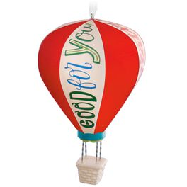 Hot Air Balloon Celebratory Ornament, , large