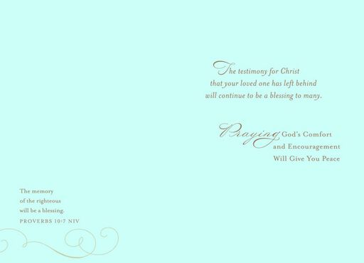 Praying for Comfort Religious Sympathy Card,