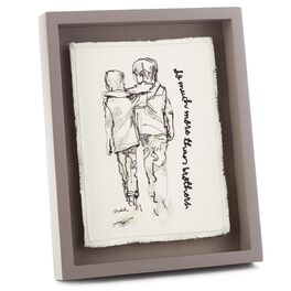 More Than Brothers Embroidered Framed Art, , large