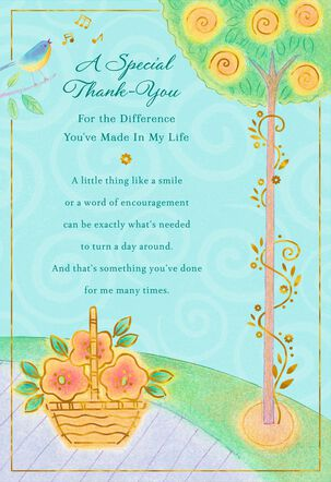 Difference You've Made Bird Thank You Card