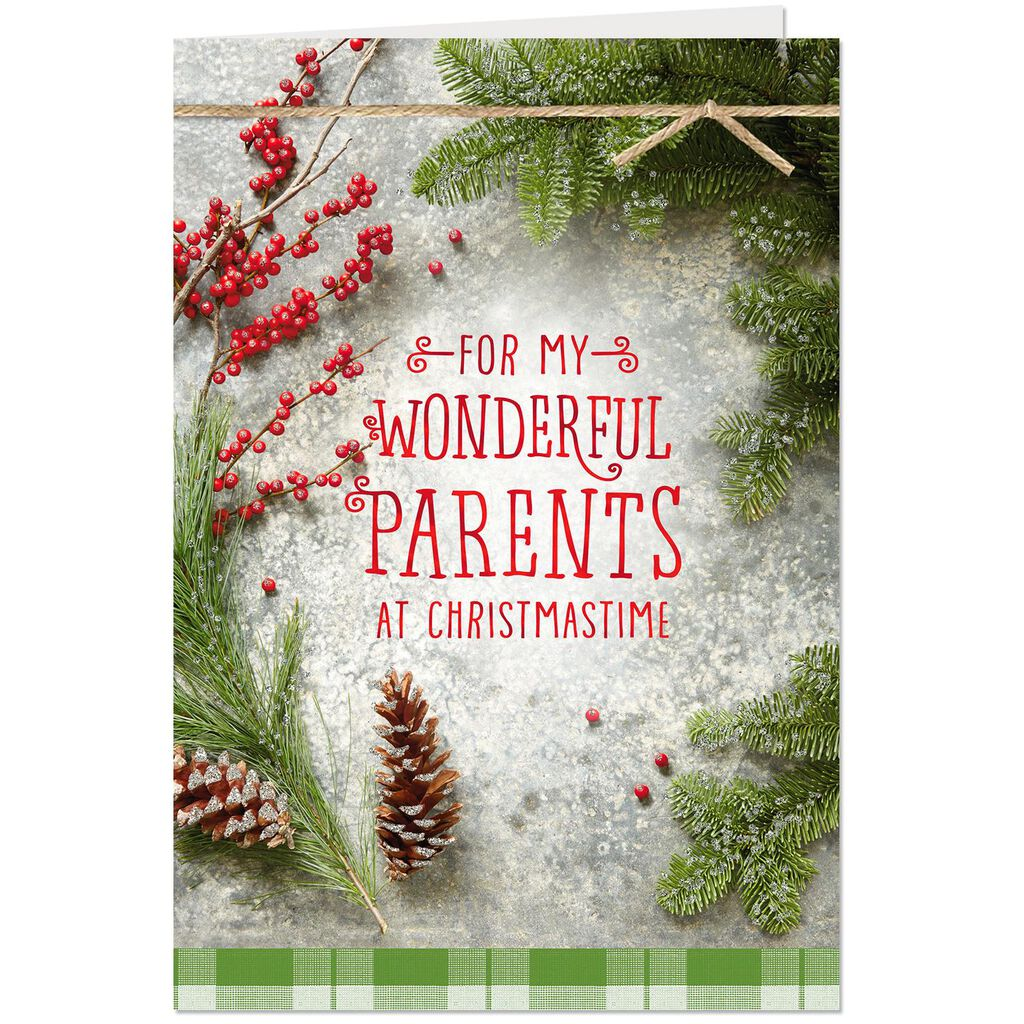 You\'ve Filled My Life With Good Christmas Card for Mom and Dad ...