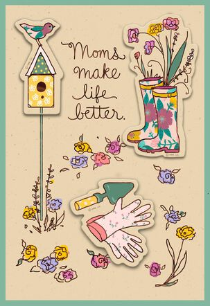 You Make Life Better Mother's Day Card With Plant Stake