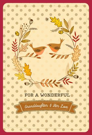 Bird Thanksgiving Card with Customizable Femaie Relative Stickers
