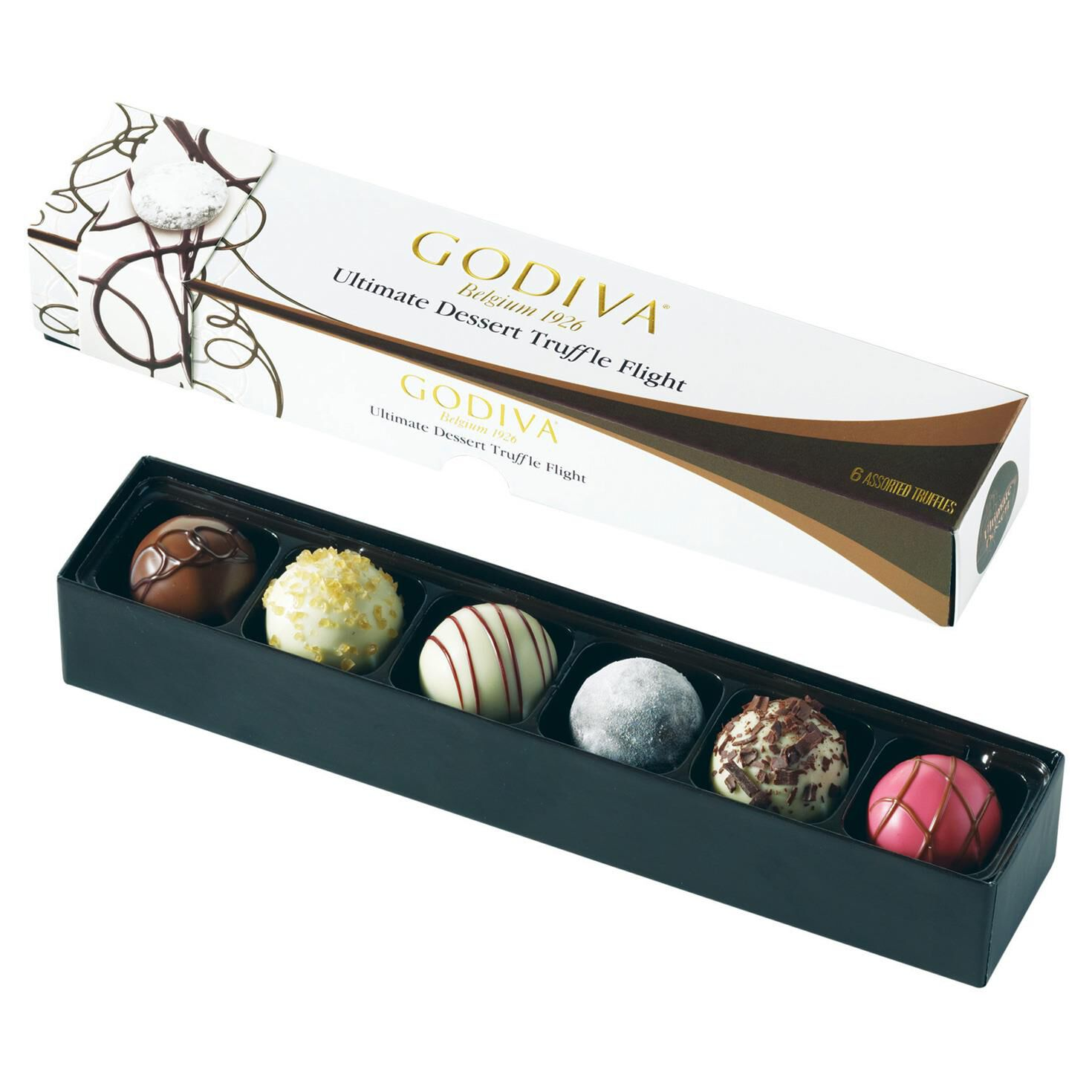 Godiva Chocolatier Ultimate Dessert Truffle Flight in Box, 6 ...