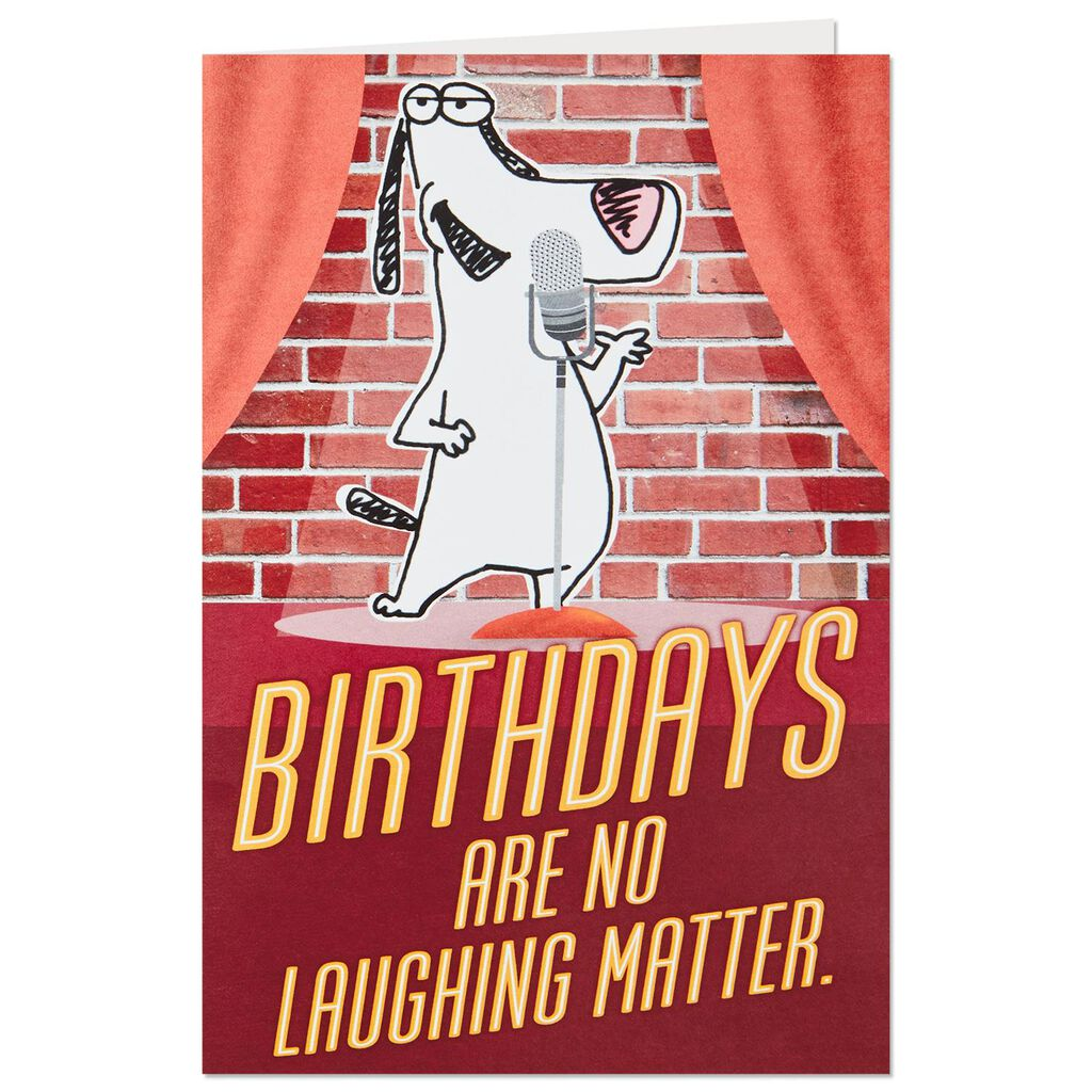 Stand Up Comedy Birthday Card With Sound