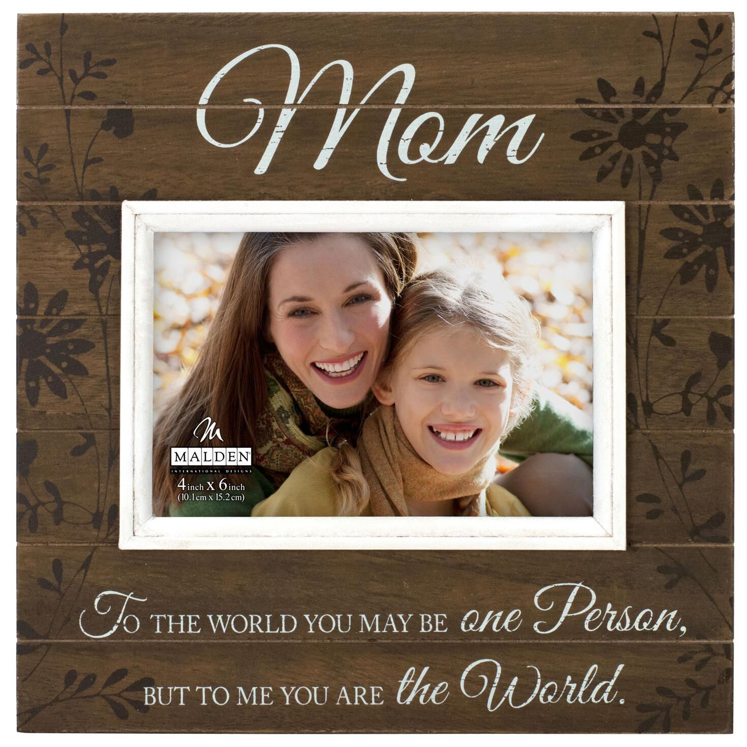 You are My World, Mom Sunwashed Wood Photo Frame, 4x6 - Picture ...