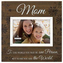 You are My World, Mom Sunwashed Wood Photo Frame, 4x6, , large