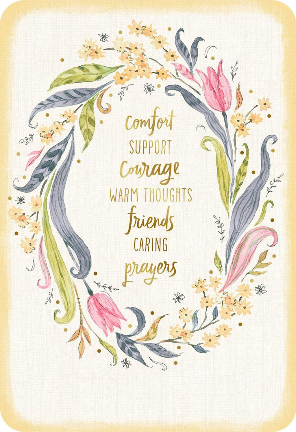 Comfort Support Courage Thinking Of You Card Greeting Cards