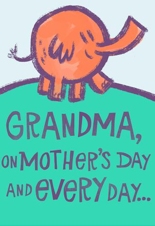 Elephant Hugs Pop Up Mother's Day Card for Grandmother