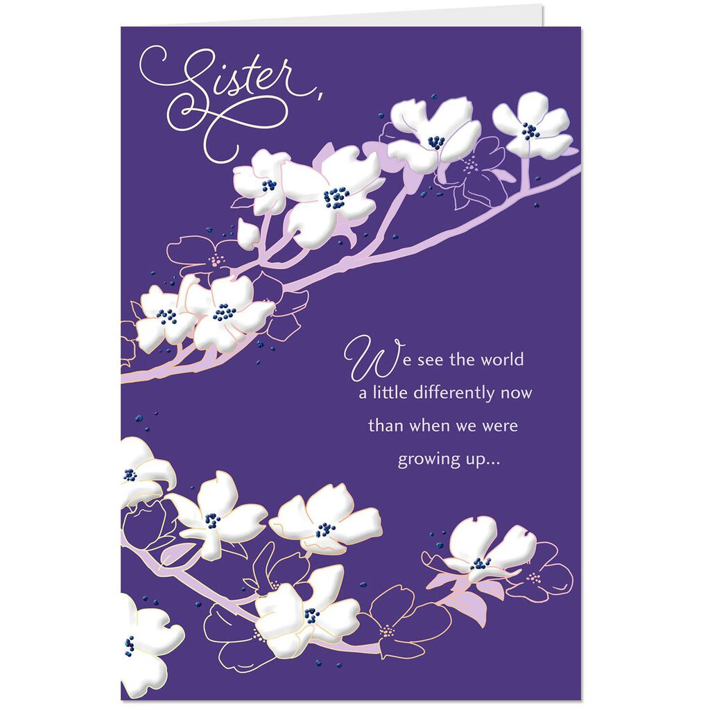 Youre So Special To Me Floral Birthday Card For Sister