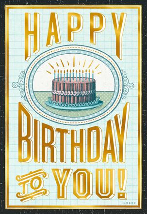 Vintage Identity Verification Birthday Card