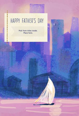 Sailboat Customizable Father's Day Card with Male Relative Stickers