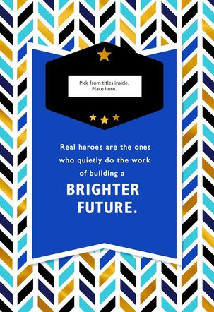 Real Hero Chevron Congratulations Greeting Card