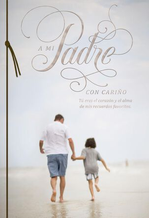 You're at the Heart of My Favorite Memories Spanish-Language Father's Day Card for Dad