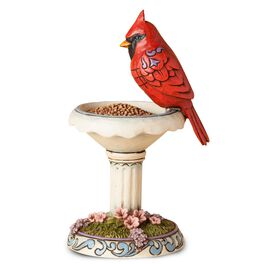 Jim Shore Red and Radiant Cardinal with Birdbath Figurine, , large