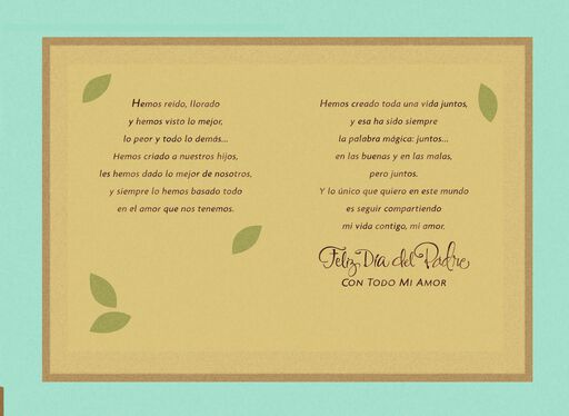 You're the Love of My Life Spanish-Language Father's Day Card for Husband,