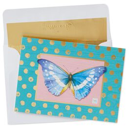 Marjolein Bastin Blue Butterfly Blank Note Cards, Pack of 10, , large