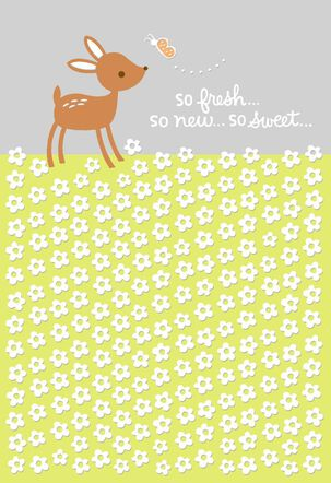 Little Deer Baby Card for Great-Grandparents