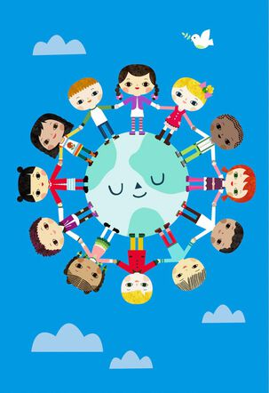Children Around the World Birthday Card