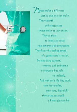 Blue Scrubs Nursing Graduation Card