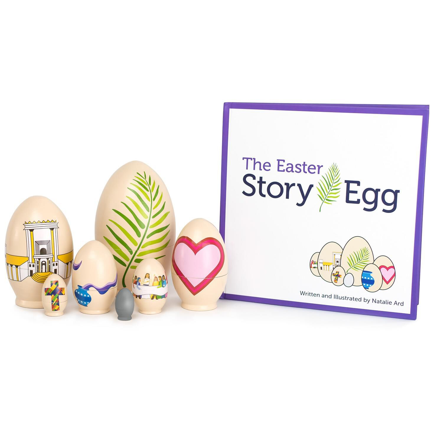 The easter story book with nesting eggs dolls pretend play the easter story book with nesting eggs dolls pretend play hallmark negle Image collections