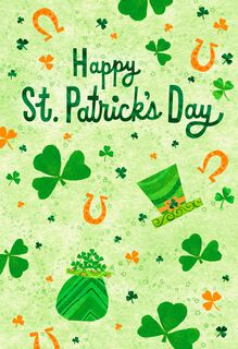 Luck and Blessings St. Patrick's Day Card,