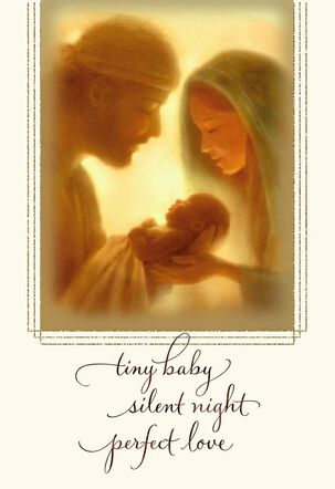 Tiny Baby Silent Night Christmas Card