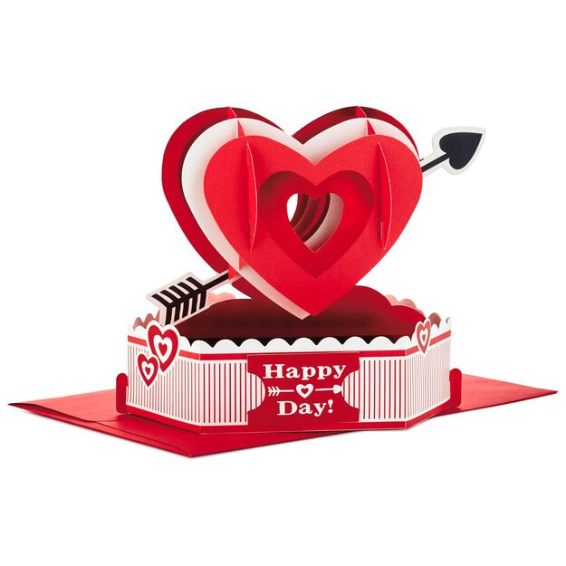 happy heart day pop up valentine's day card - greeting cards, Ideas