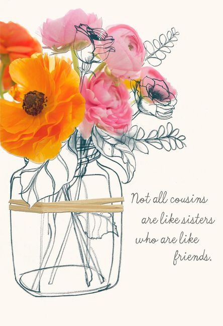 Like Sisters And Friends Birthday Card For Cousin Greeting Cards