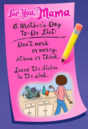 Mama's To-Do List Mother's Day Card
