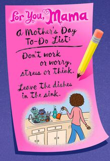 Mama's To-Do List Mother's Day Card,