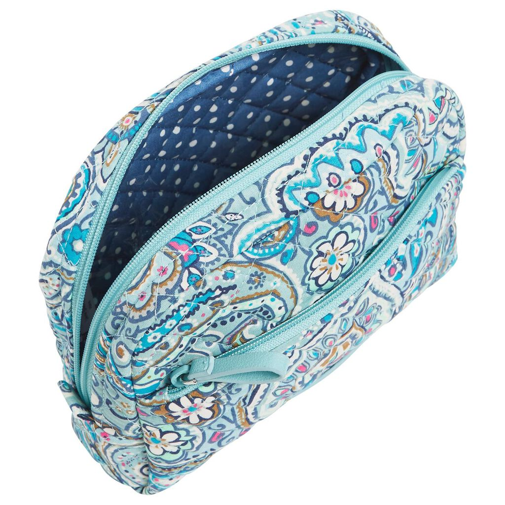 f865b7da ... Vera Bradley Iconic Medium Cosmetic Bag in Daisy Dot Paisley