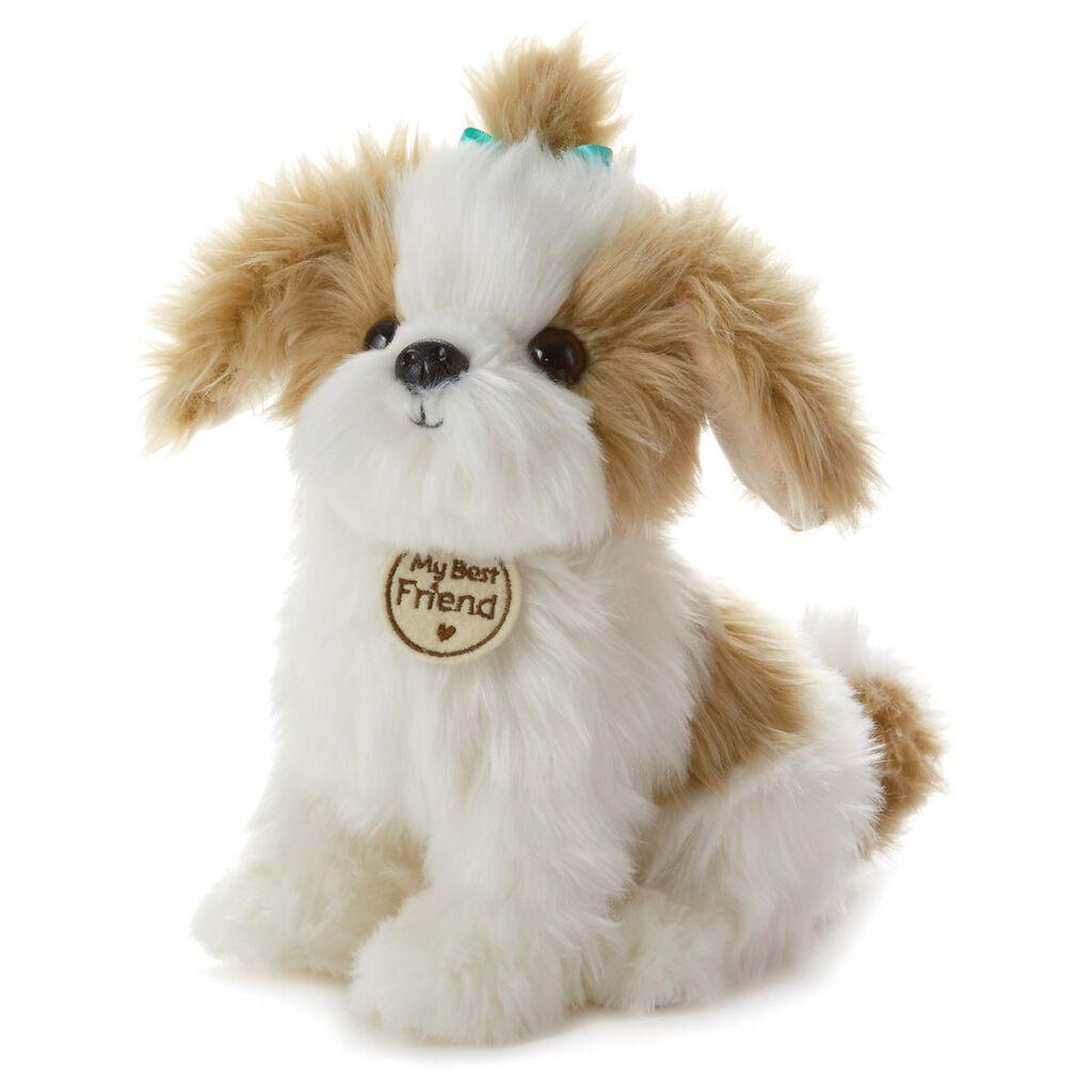 Tan And White Cuddly Dog Large Stuffed Animal Classic Stuffed