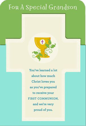 Proud of You, Grandson First Communion Card