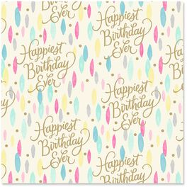 Happiest Birthday Ever Wrapping Paper Roll, 27 sq. ft., , large