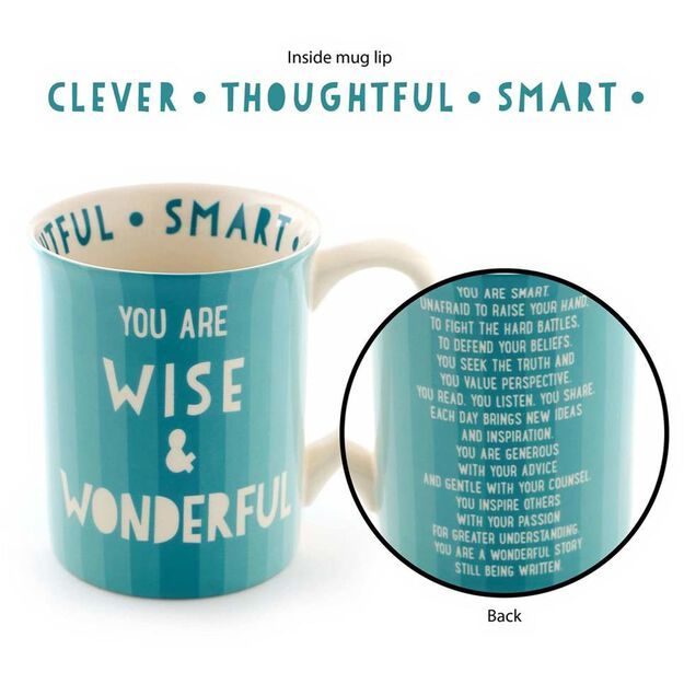 Our Name is Mud You Are Wise & Wonderful Mug, 16 oz.