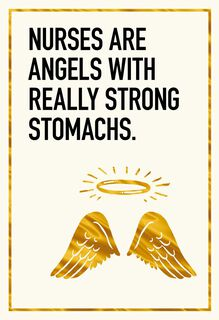 Real Angel Funny Nurses Day Card,