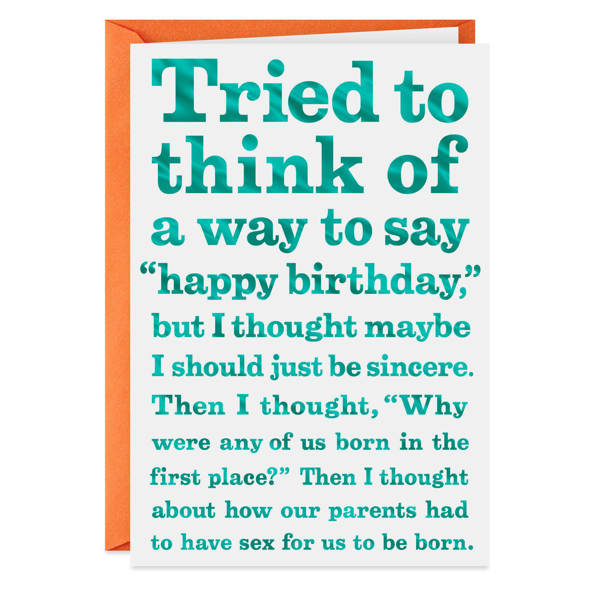 Tried to Think of a Way to Say Happy Birthday Card