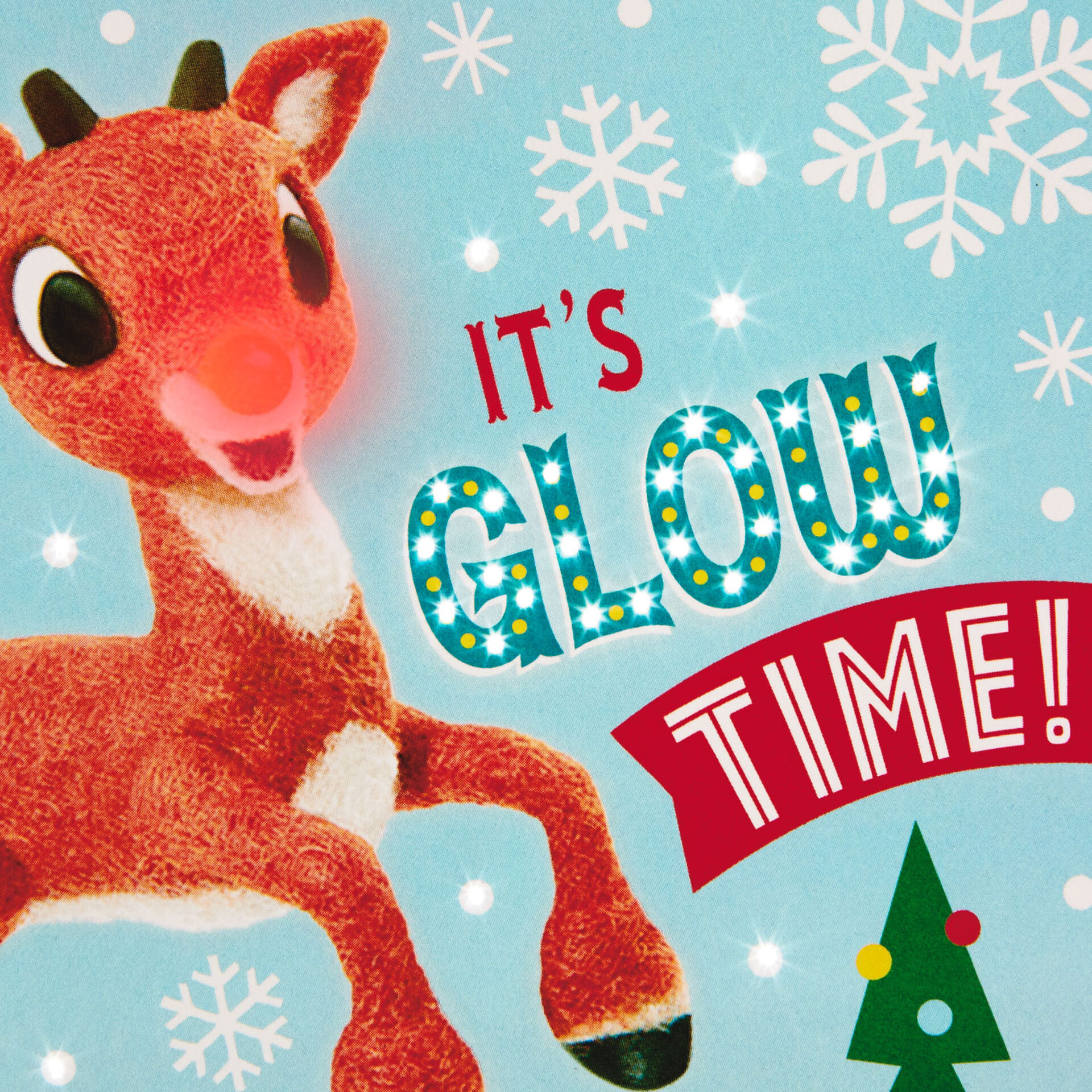 rudolph the red nosed reindeer glow time musical christmas card with light greeting cards hallmark rudolph the red nosed reindeer glow time musical christmas card with light