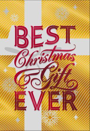 Best Gift Ever December 25th Birthday Christmas Card