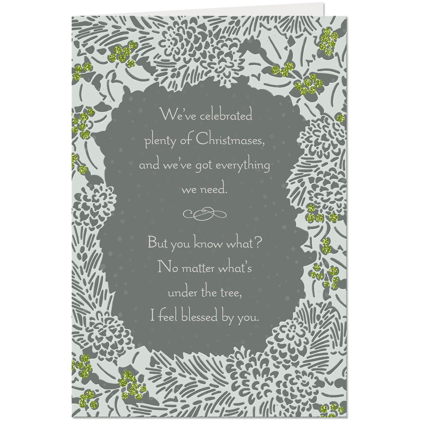 Love Sharing Life With You Romantic Christmas Card - Greeting Cards ...