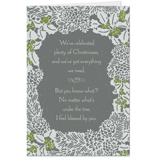 love sharing life with you romantic christmas card
