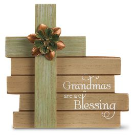 Grandmas Are a Blessing Cross Plaque, , large