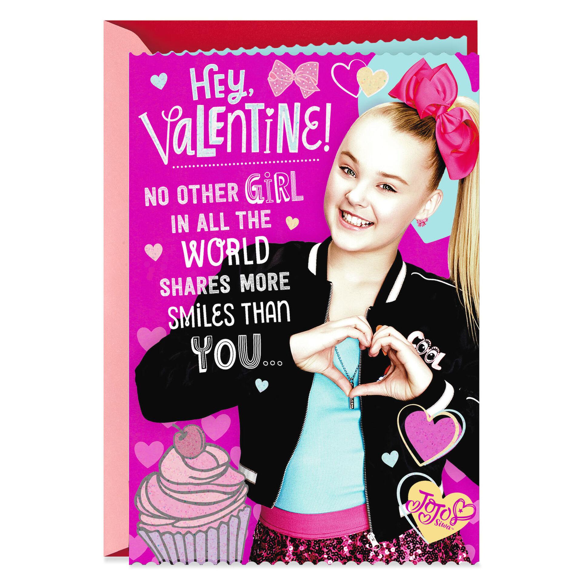 nickelodeon jojo siwa™ no other girl valentine's day card