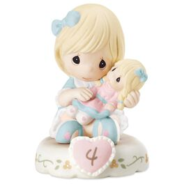 Precious Moments® Growing in Grace—Age 4 Blonde Girl Porcelain Figurine, , large
